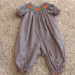 Other - 🎃🎃Pumpkin Smocked Long Bubble